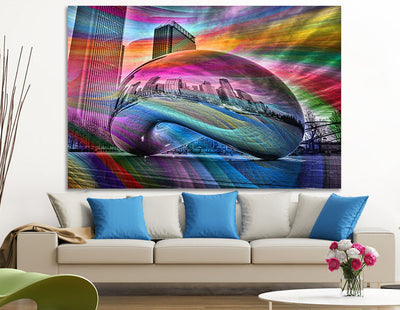 Zapwalls Canvas Colorful Bean Chicago Canvas