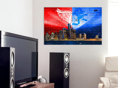 Zapwalls Canvas Detroit Sports Skyline Canvas