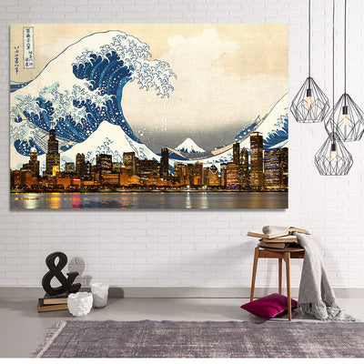 Zapwalls Canvas Great Wave of Chicago Canvas