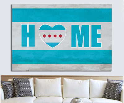 Zapwalls Canvas Home Is Where Heart Is Chicago Canvas