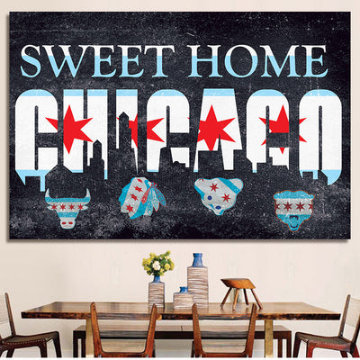 Zapwalls Canvas Sweet Home Chicago Chicago Canvas