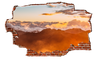 Image of Zapwalls Decals Above the Mountain Orange Cloudy Sky Breaking wall Nature