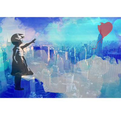 Zapwalls Decals Bansky NYC Water Color New York