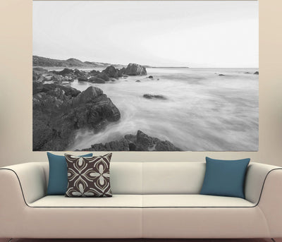 Zapwalls Decals Beautiful Mystic Water Coast Black & White Photography