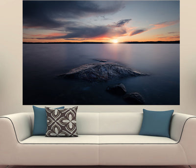 Zapwalls Decals Beautiful Sunset Lakeside
