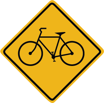 Zapwalls Decals Bicycle Sign Wall Graphic