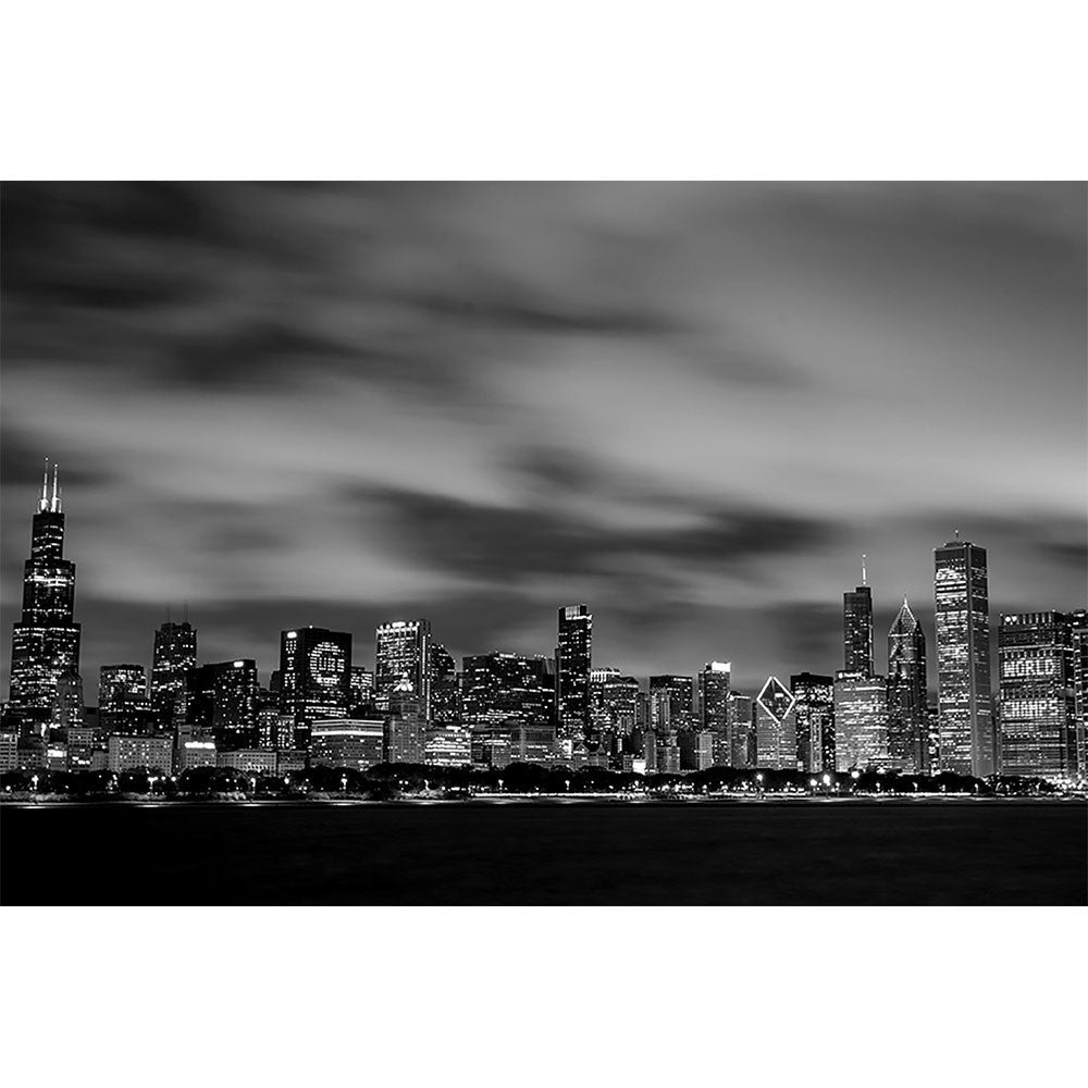 Zapwalls decals black white amazing chicago skyline wall graphic