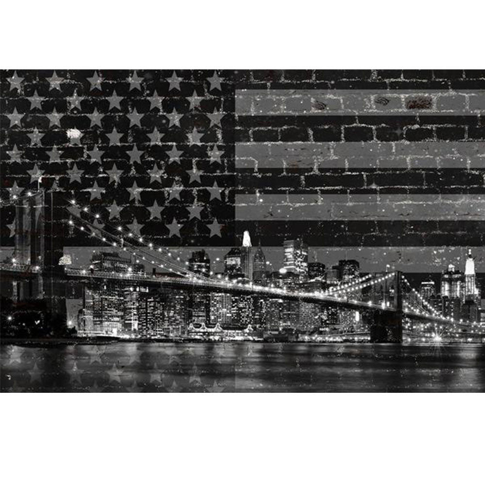 Zapwalls Decals Black & White New York Brooklyn Bridge