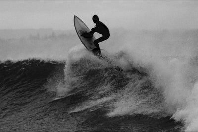 Zapwalls Decals Black & White Surfer Jumping
