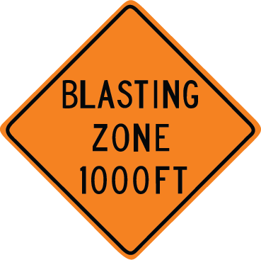 Zapwalls Decals Blastic zone 1000ft