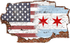 Zapwalls Decals Breaking Chicago American Flag