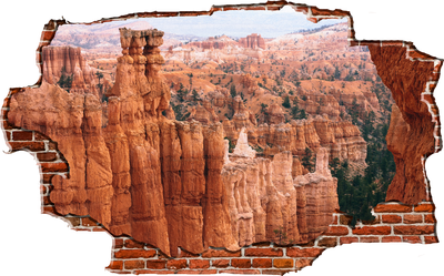 Zapwalls Decals Breaking Wall Inner Grand Canyon