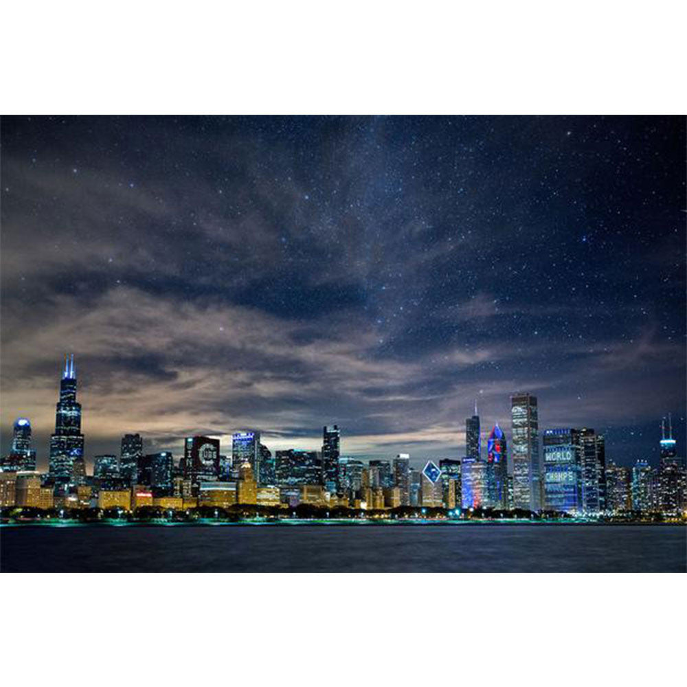 Zapwalls Decals Brilliant Chicago Glow Skyline Wall Graphic