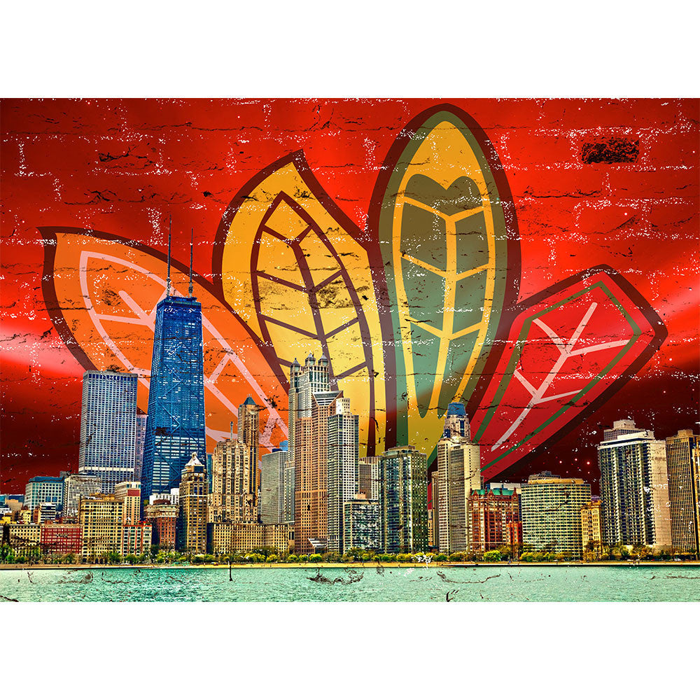 Zapwalls Decals Chi Feather Skyline