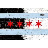 Zapwalls Decals Chicago Black & White Flag Graffiti
