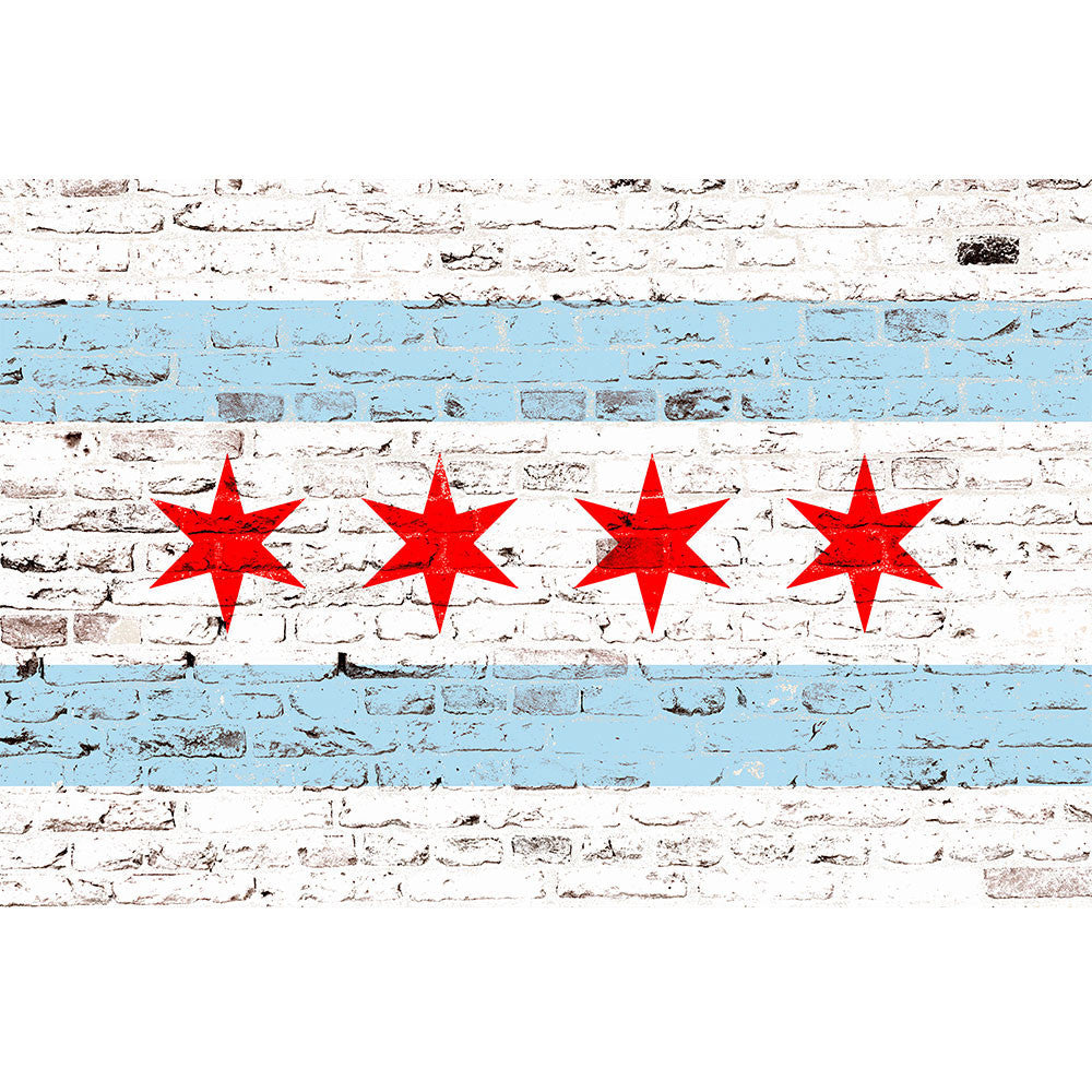 Zapwalls Decals Chicago Graffiti Flag