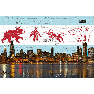 Zapwalls Decals Chicago Greatest Flag