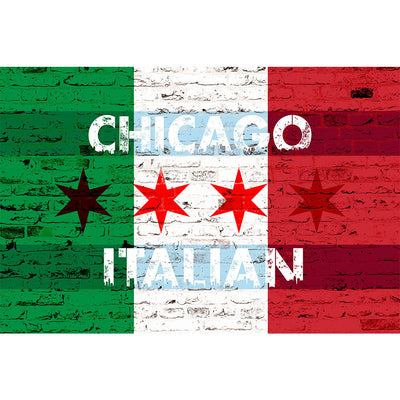 Zapwalls Decals Chicago Italian flag