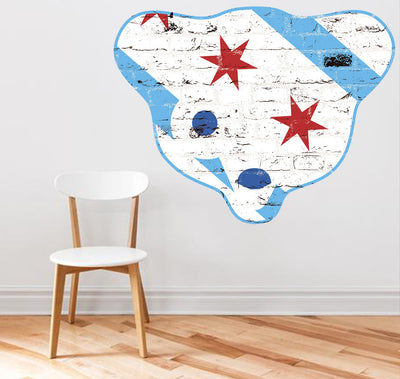 Zapwalls Decals Chicago Sheffield Graffiti Bear Wall Graphic