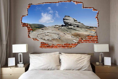 Zapwalls Decals Cool Rock Formation Breaking wall Nature
