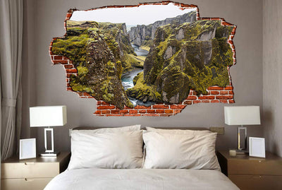 Zapwalls Decals Deep River Canyon Coast Breaking wall Nature