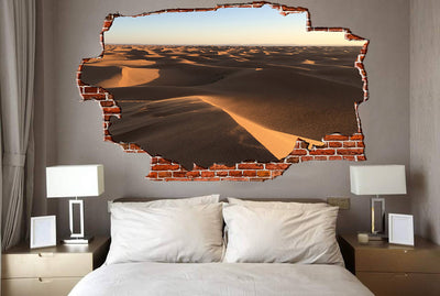 Zapwalls Decals Dessert Hills Breaking wall Nature