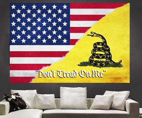 Zapwalls Decals Don't Tread On Me American Flag