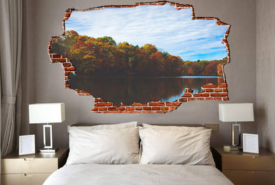 Zapwalls Decals Fall Pound Refection Breaking wall Nature