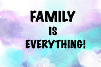 Zapwalls Decals Family Is Everything Water Color