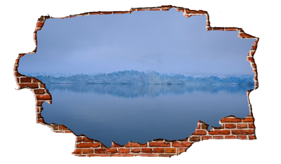 Zapwalls Decals Glacier View Refection Breaking wall Nature