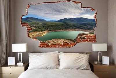Zapwalls Decals Green Pound Mountain Side Breaking wall Nature