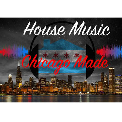 Zapwalls Decals House Music Chicago Skyline Wall Graphic