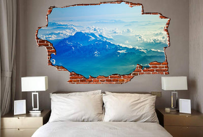 Zapwalls Decals Into the Clouds Mountain Breaking wall Nature
