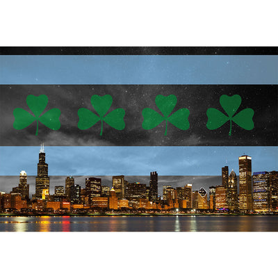 Zapwalls Decals Irish Night Chicago Skyline Wall Graphic