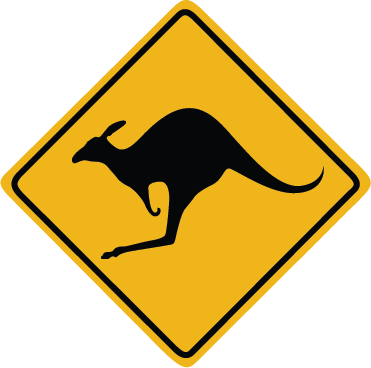 Zapwalls Decals Kangaroo Crossing Wall Graphic
