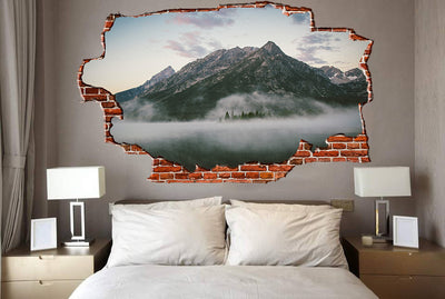 Zapwalls Decals Lakeside Water Reflections Breaking wall Nature