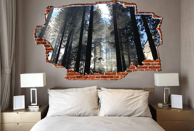 Zapwalls Decals Light Passing Through Forest Breaking wall Nature