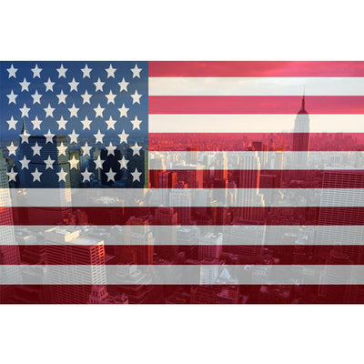 Zapwalls Decals New York American Flag