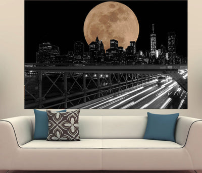 Zapwalls Decals New York City Full Moon