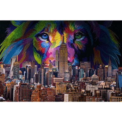 Zapwalls Decals New York Colorful Lion