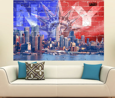 Zapwalls Decals New York Liberty Skyline