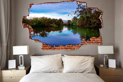 Zapwalls Decals Pound Refection Beautiful Sky Breaking wall Nature