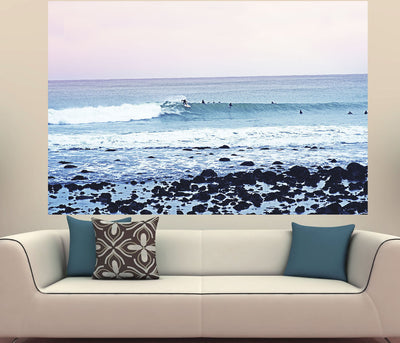 Zapwalls Decals Riding Ocean Wave Surfer