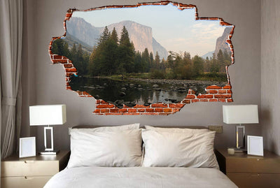 Zapwalls Decals Rock Pound Yellowstone Breaking wall Nature