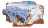 Zapwalls Decals Snow Mountain Climbers Breaking wall Nature