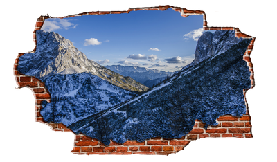 Zapwalls Decals Snow Mountain View Breaking wall Nature