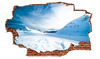 Image of Zapwalls Decals Snowy Mountain Day Sky Breaking wall Nature