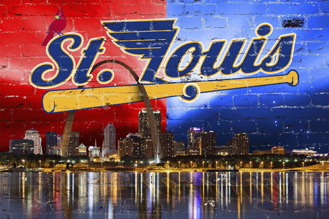 Zapwalls Decals St. Louis City Sports Skyline
