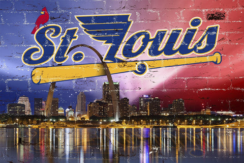 Zapwalls Decals St. Louis Sports Skyline