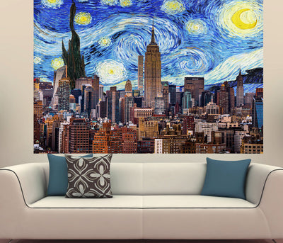 Zapwalls Decals Starry New York City